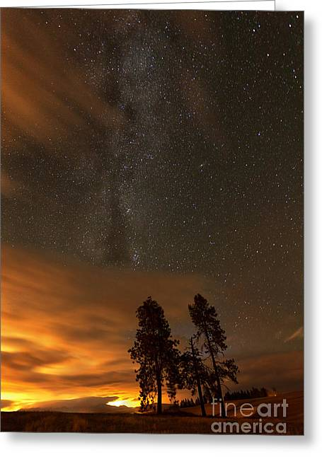 Nighttime Aglow Greeting Card by Beve Brown-Clark Photography