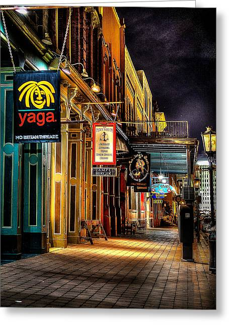 Nighttime On The Strand Greeting Card by David Morefield