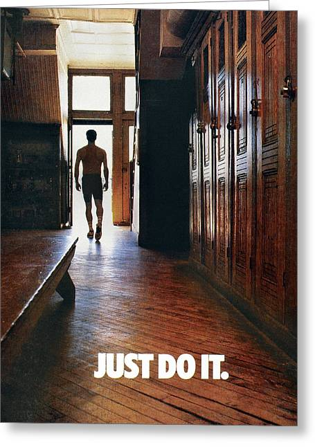Nike Advertisement, 1988 Greeting Card