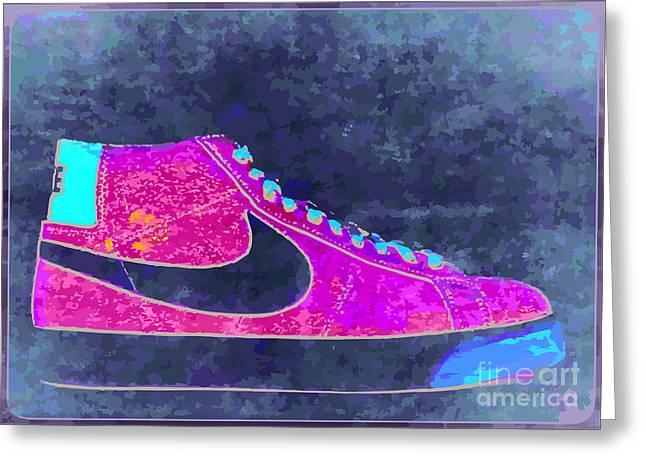 Nike Blazer 2 Greeting Card by Alfie Borg
