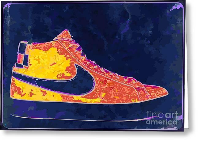 Nike Blazers 4 Greeting Card by Alfie Borg