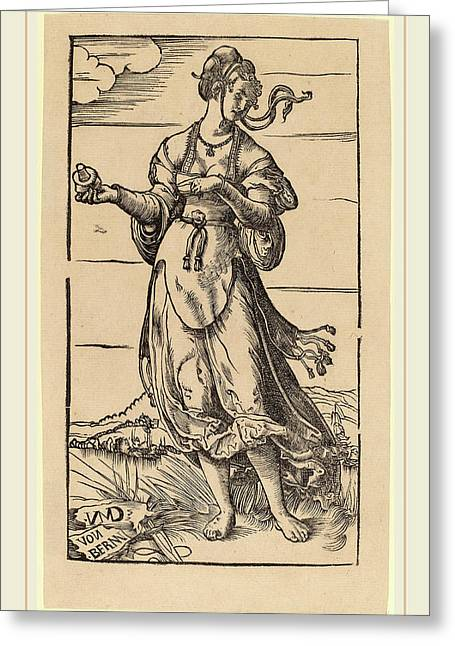 Niklaus Manuel I, The Wise Virgin, Swiss Greeting Card by Litz Collection