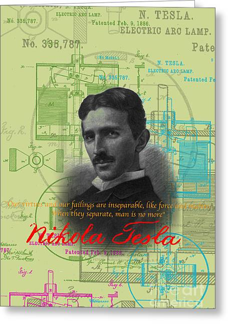 Nikola Tesla #3 Greeting Card
