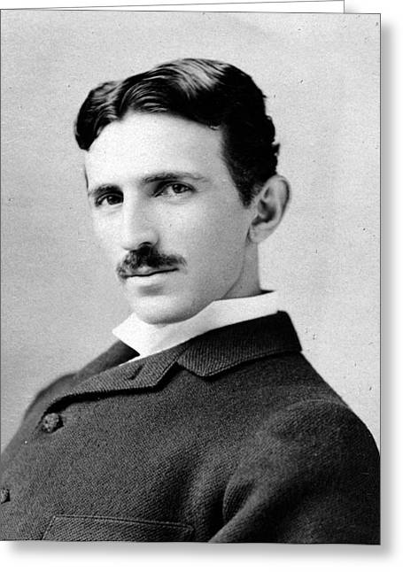 Nikola Tesla Portrait Greeting Card