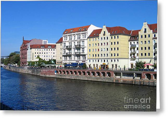 Nikolaiviertel Greeting Card by Art Photography