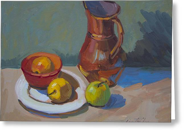 Nila's Copper Pitcher Greeting Card by Diane McClary