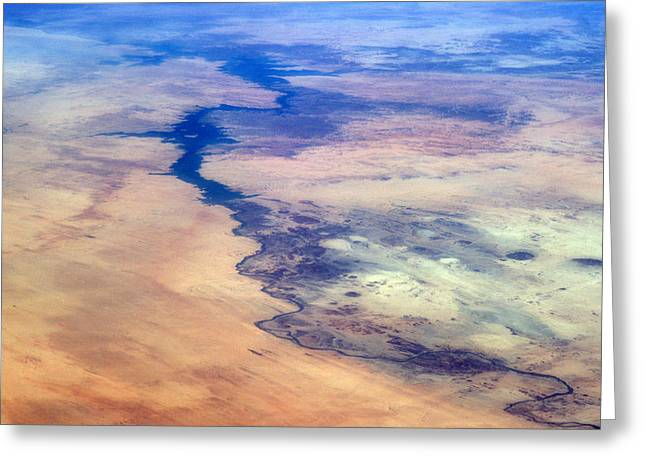Nile River From The Iss Greeting Card