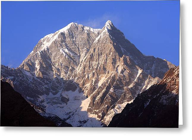Nilgiri South 6839m Greeting Card