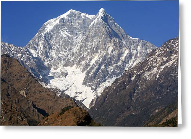Nilgiri South, The Himalayas, Nepal Greeting Card