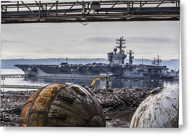 Nimitz - Port Of Everett Greeting Card