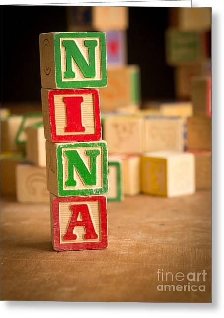 Nina - Alphabet Blocks Greeting Card