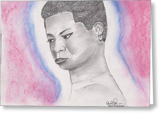 Nina Simone Greeting Card by David Jackson