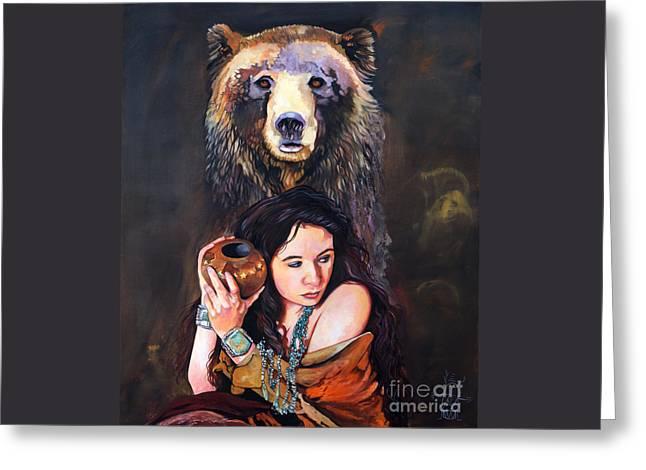 Nine Stars Woman - Bear Medicine Greeting Card