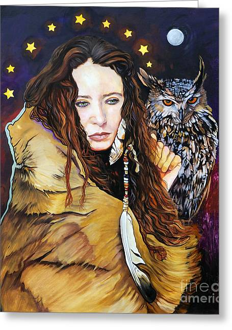 Nine Stars Woman / Owl Medicine Greeting Card