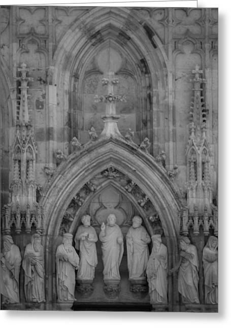 Nine Worthies Bw Cologne Germany Greeting Card