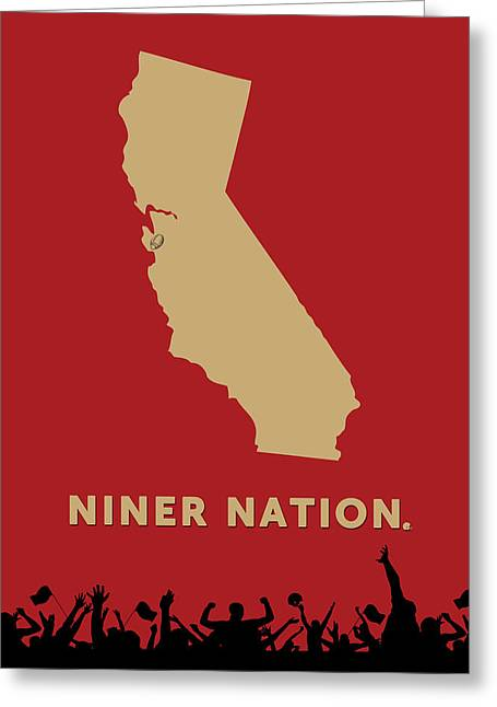 Niner Nation Greeting Card by Nancy Ingersoll