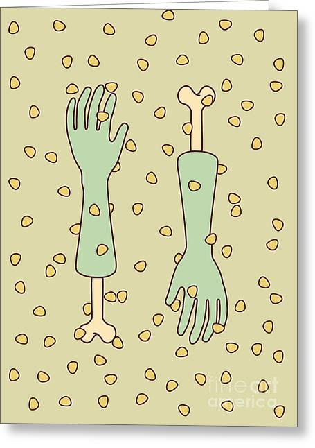 Nip And Tuck Greeting Card by Freshinkstain