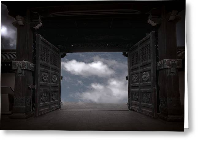 Nirvana Gate Greeting Card by Daniel Hagerman