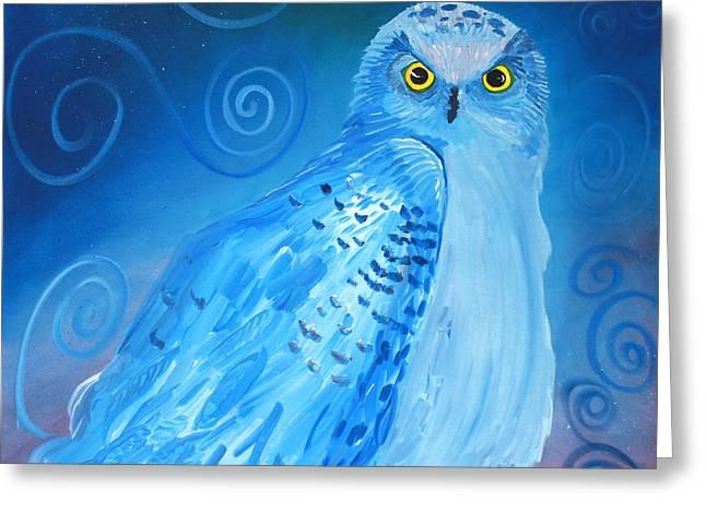 Nite Owl Greeting Card by Amy Reisland-Speer