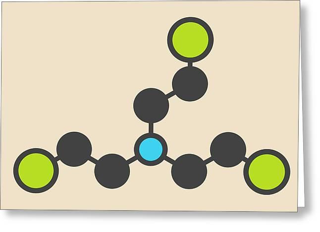 Nitrogen Mustard Molecule Greeting Card by Molekuul