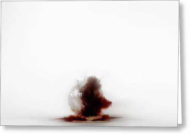 Nitrogen Triiodide Detonating (2 Of 4) Greeting Card by Science Photo Library