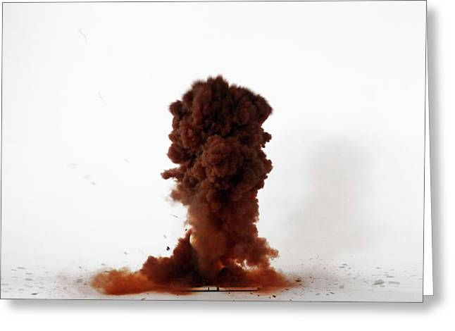 Nitrogen Triiodide Detonating (3 Of 4) Greeting Card by Science Photo Library