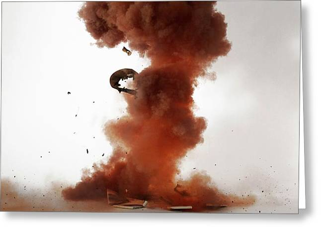 Nitrogen Triiodide Detonating (4 Of 4) Greeting Card by Science Photo Library