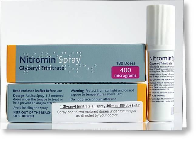 Nitromin Cardiac Spray Greeting Card