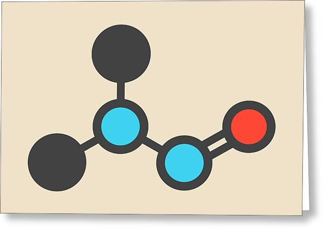 Nitrosodimethylamine Molecule Greeting Card by Molekuul