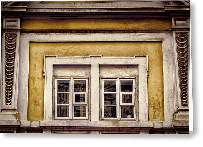 Nitty Gritty Window Greeting Card by Joan Carroll