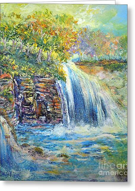 Greeting Card featuring the painting Nixon's A Happy Day by Lee Nixon