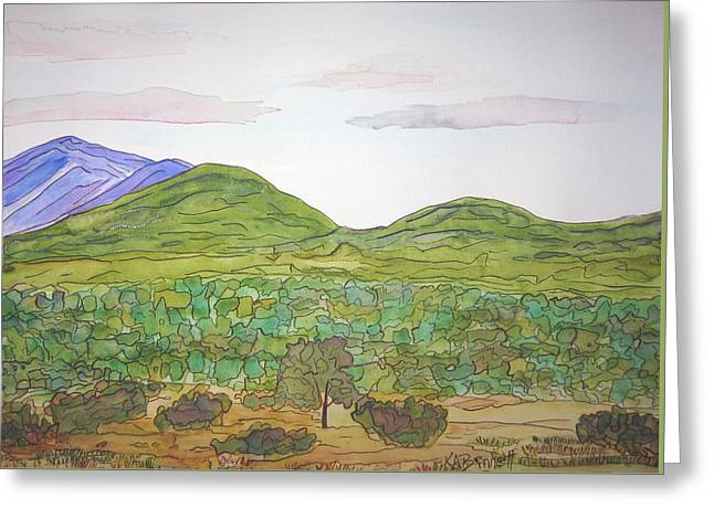 Nm Hills Greeting Card