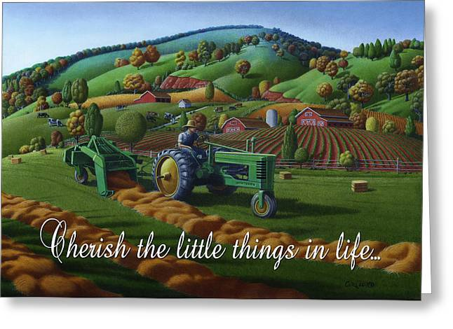 no 21 Cherish the little things in life 5x7 greeting card  Greeting Card
