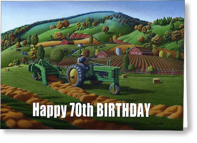 no 21 Happy 70th Birthday 5x7 greeting card  Greeting Card