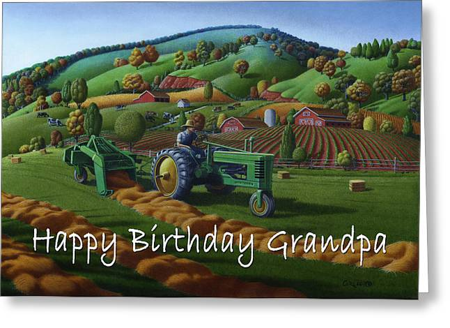 no 21 Happy Birthday Grandpa 5x7 greeting card  Greeting Card