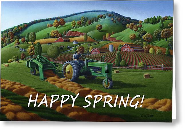 no 21 Happy Spring 5x7 greeting card  Greeting Card