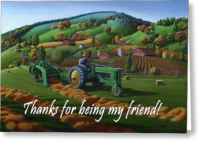 no 21 Thanks for being my friend 5x7 greeting card  Greeting Card