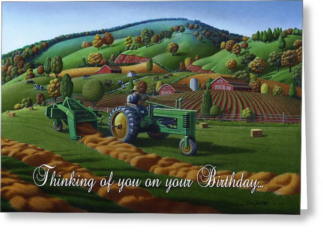 no 21 Thinking of you on your birthday 5x7 greeting card  Greeting Card