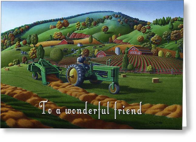 no 21 To a wonderful friend 5x7 greeting card  Greeting Card