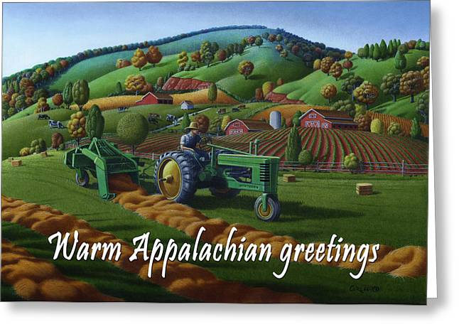 no 21 Warm Appalachian greetings 5x7 greeting card  Greeting Card