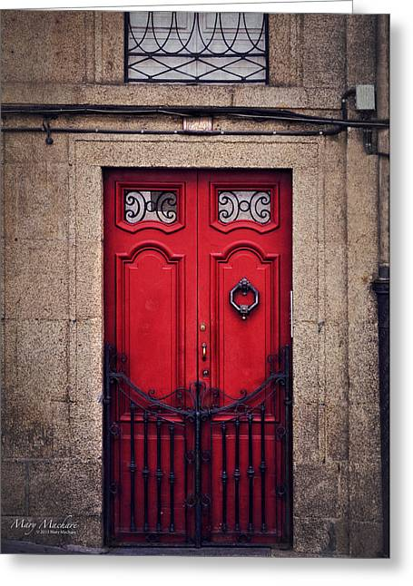 No. 24 - The Red Door Greeting Card by Mary Machare