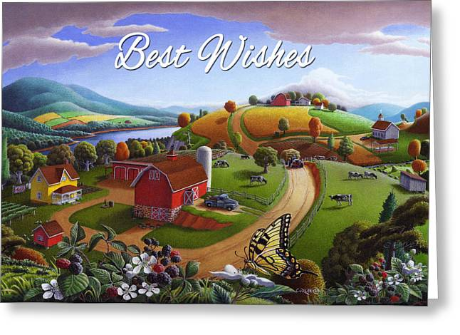 no 7 Best Wishes 5x7 greeting card  Greeting Card