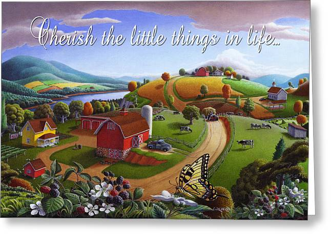 no 7 Cherish the little things in life 5x7 greeting card  Greeting Card