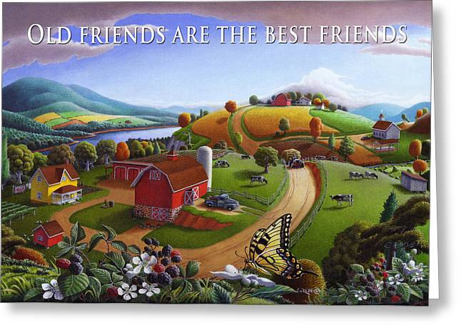 no 7 Old Friends Are The Best Friends 5x7 greeting card  Greeting Card