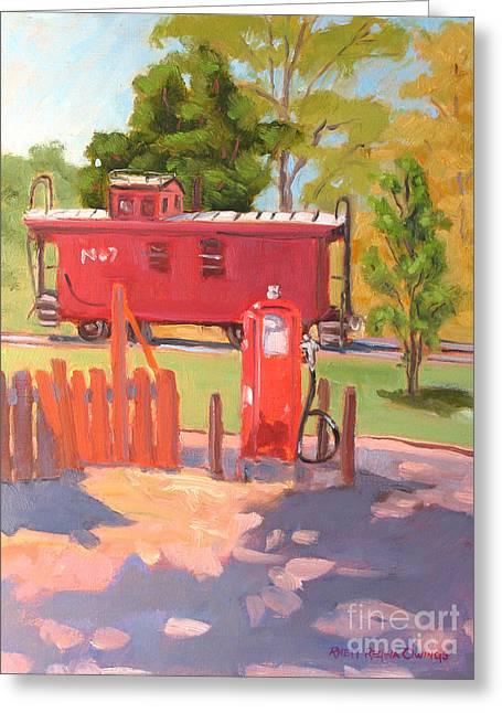 No. 7 Greeting Card by Rhett Regina Owings