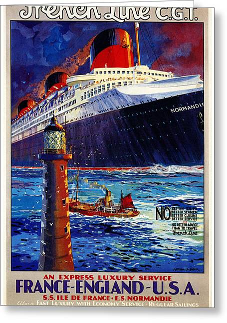 No Better Advice Than To Travel - French Line Greeting Card