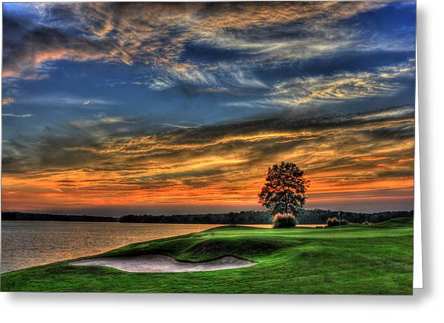 No Better Day Golf Landscape Art Greeting Card