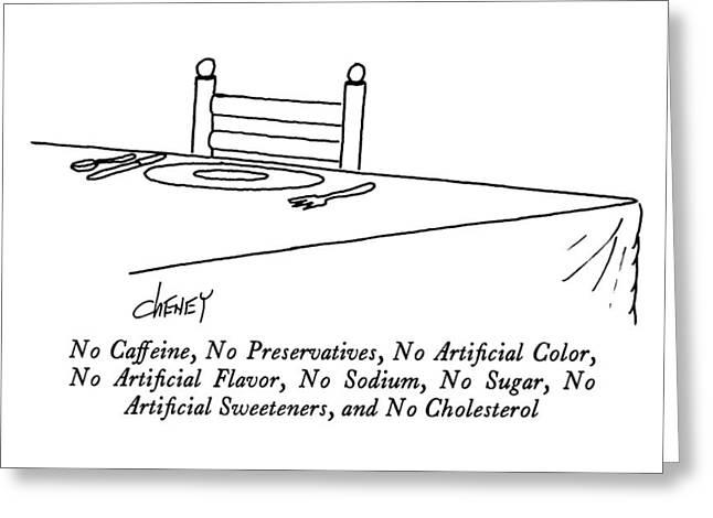 No Caffeine Greeting Card