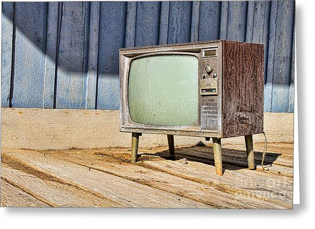 No Channel Surfing - Tv By Diana Sainz Greeting Card