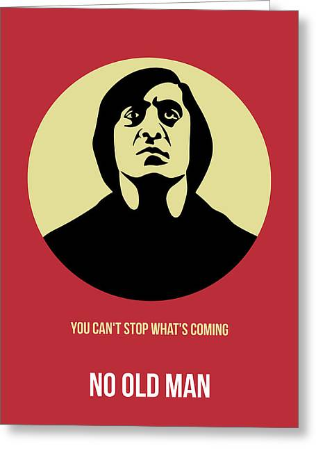No Country For Old Man Poster 3 Greeting Card by Naxart Studio